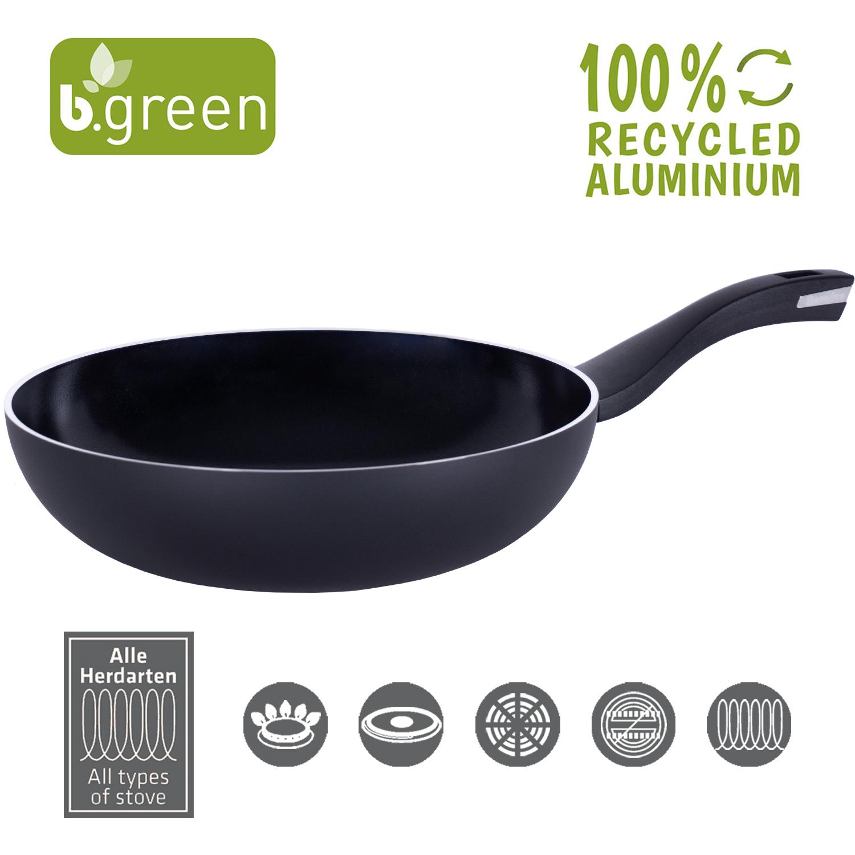 Wok Pan b.green Alu Recycled Induction 17 cm