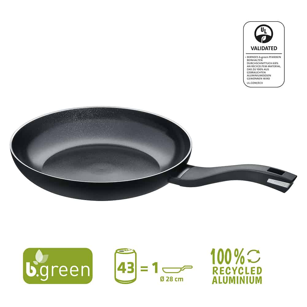 Berndes Bratpfanne b.green Alu Recycled Induction schwarz 28 cm