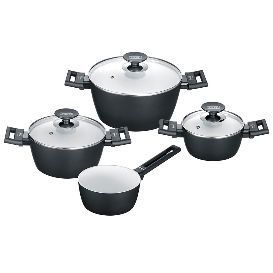 Berndes Kochtopfset 4-teilig Starter Alu Induction b.nature