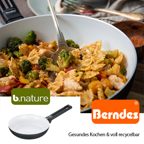 Berndes Schmorpfanne Starter Alu Induction B.Nature 24 cm