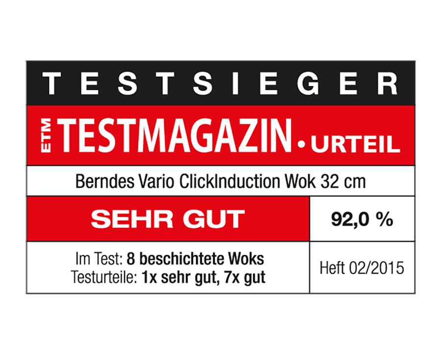 Berndes Wok mit Glasdeckel und Zubehör Vario Click Induction 32 cm
