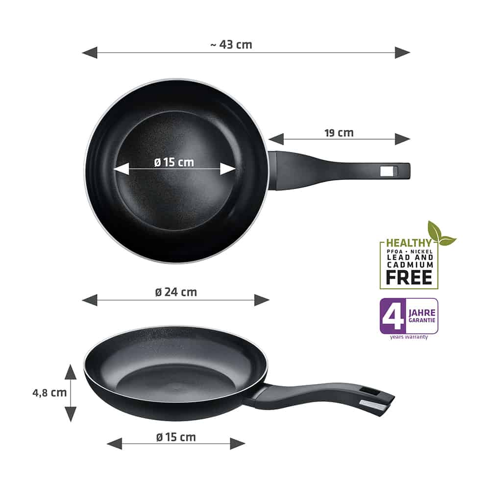 Berndes Bratpfanne b.green Alu Recycled Induction schwarz 24 cm