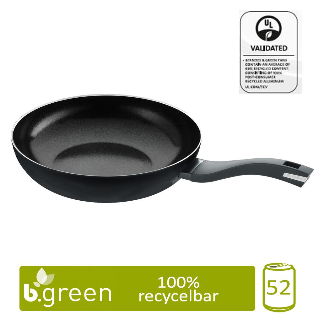 Berndes Wokpfanne b.green Alu Recycled Induction schwarz 28 cm