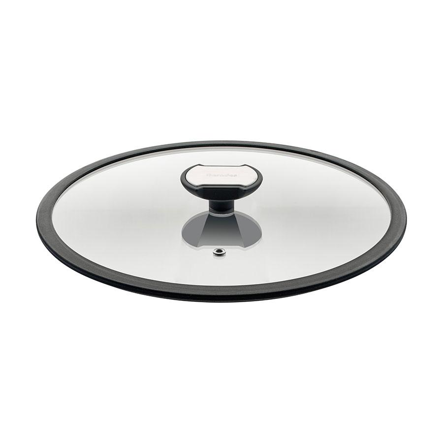 Berndes Balance Glasdeckel mit schw. Silikonrand 28 cm
