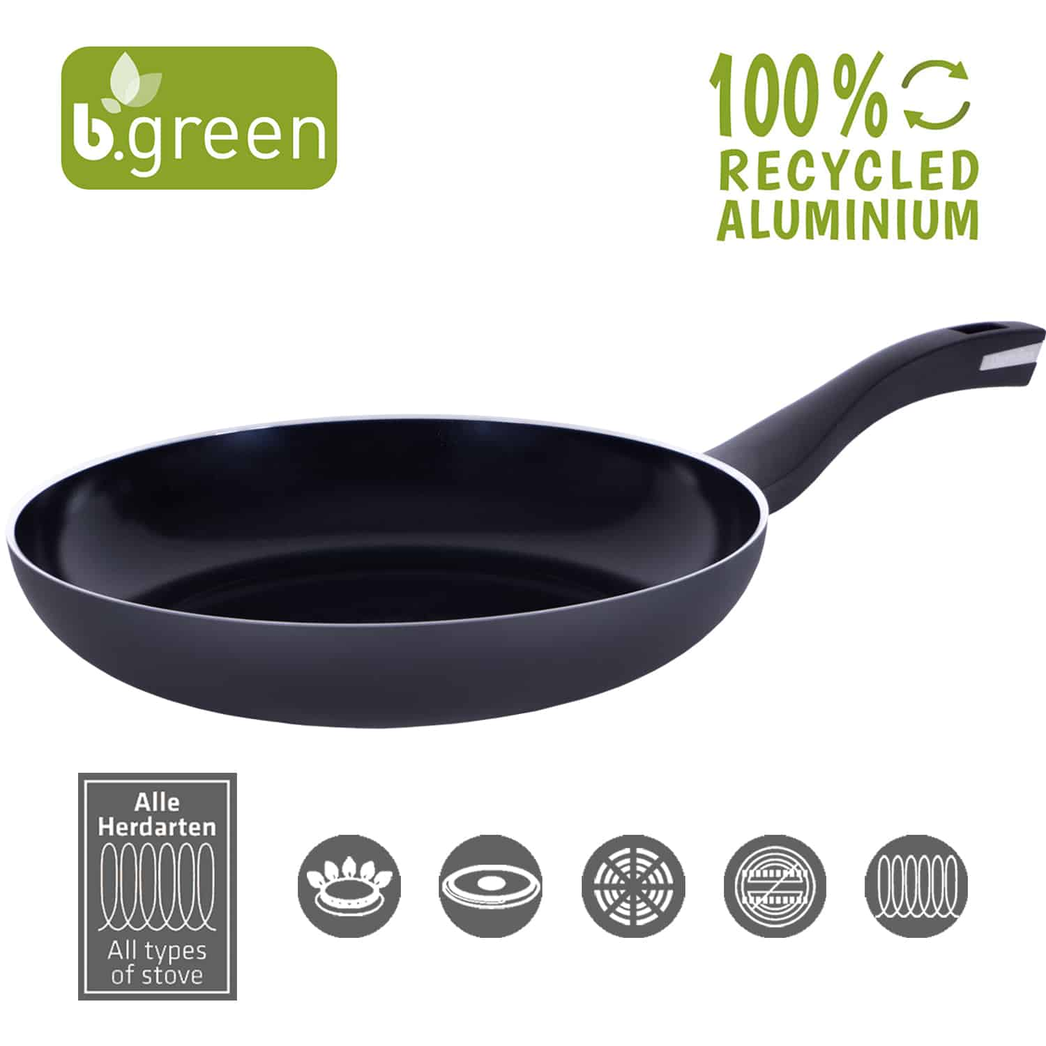 Frypan b.green Alu Recycled Induction 15,2 cm