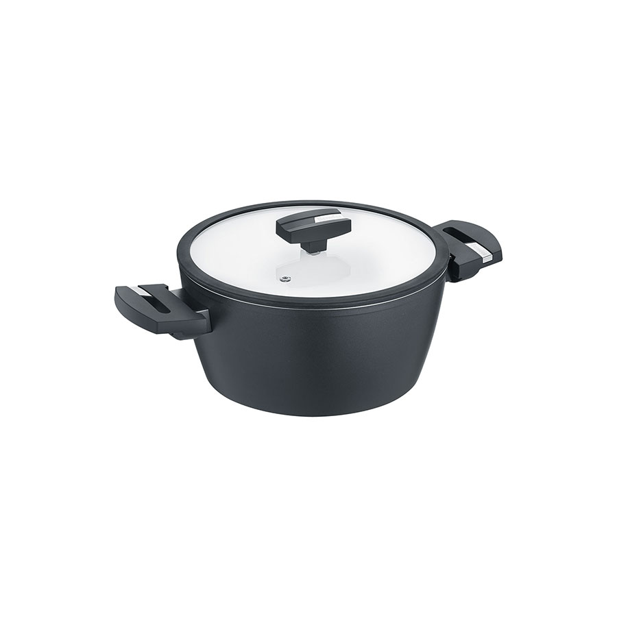 High casserole with glass lid Allrounder Balance® Induction b.nature 15,5 cm